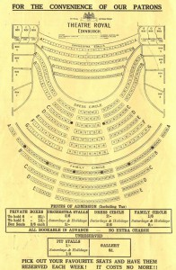 Edinburgh Theatre Royal Seating Plan