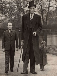 Pete Collins (5'8) with Lofty and Seppetoni