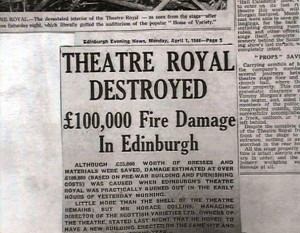 Theatre Royal Fire Report courtesy of Ian Rintoul