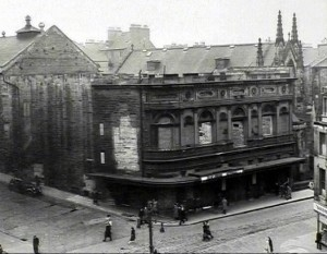 The preserved frontage of the Theatre Royal after the fire courtesy of Ian Rintoul