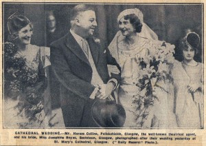 Horace & Josephine Collins' wedding
