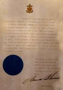 (38)-A-letter-of-introduction-to-the-US-from-Glasgow's-Mayor---1935