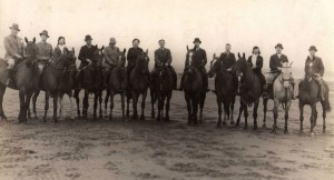 (49)-Horsesback-on-Ayr-beach.-Horace-Collins-far-left,-Dave-Willis-centre