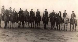 (49)-Horsesback-on-Ayr-beach.-Horace-Collins-far-left,-Dave-Willis-centre