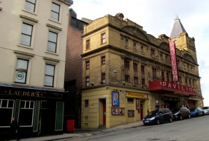 The Fred Collins Variety Agency office next door to the Pavilion Theatre, Glasgow