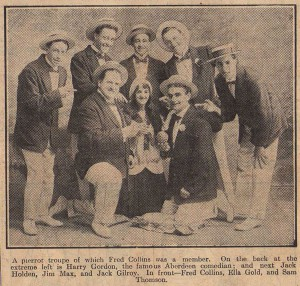 Fred Collins Pierrot group with Harry Gordon