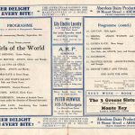 1941 Palace Programme Girls of the World